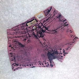 MUDD Pink Acid High Waisted Shorts Sz 8
